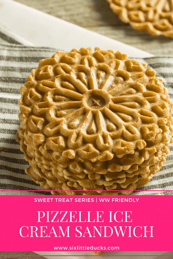 Pizzelle Ice Cream Sandwich