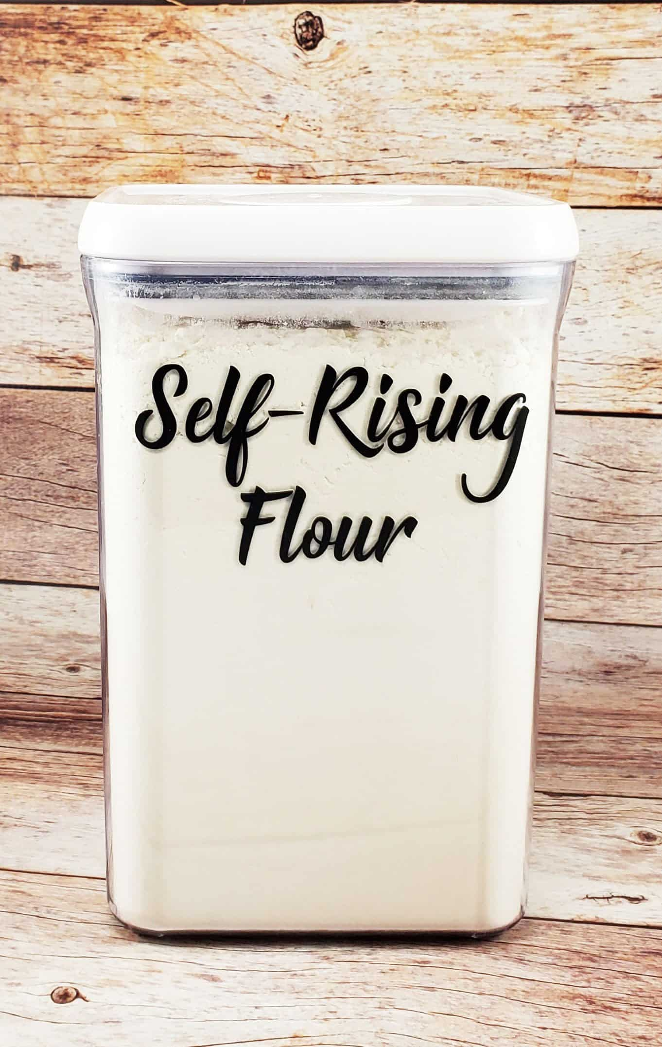 final self rising flour container