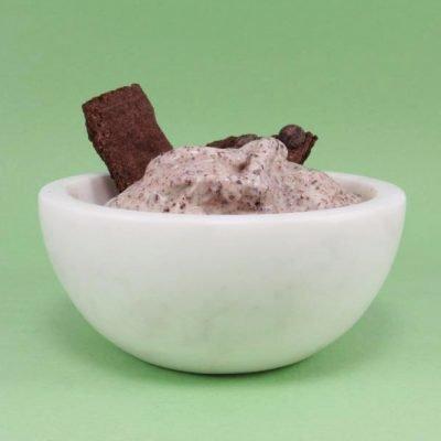 Bowl of Crunchy Brownie Ice Cream Sundae