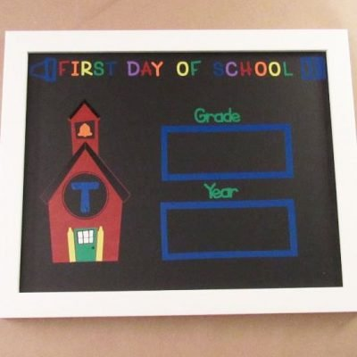 DIY First Day of School Sign