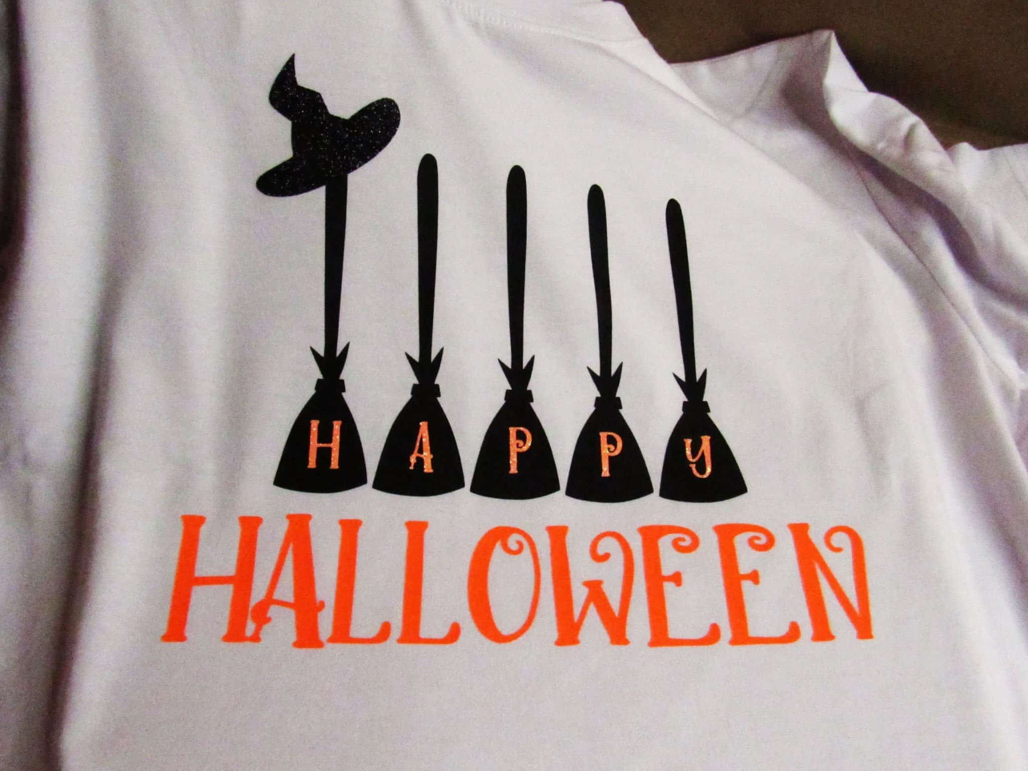 DIY Happy Halloween t-shirt