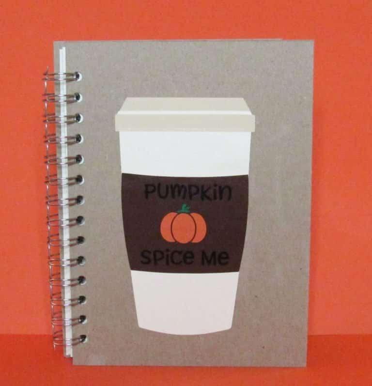"""Fall """"Pumpkin Spice Me"""" Notebook DIY"""