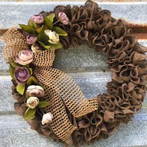 Brown Ruffled Wreath