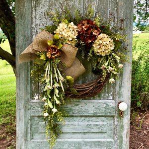 Fall Hydrangea Grapevine Wreath