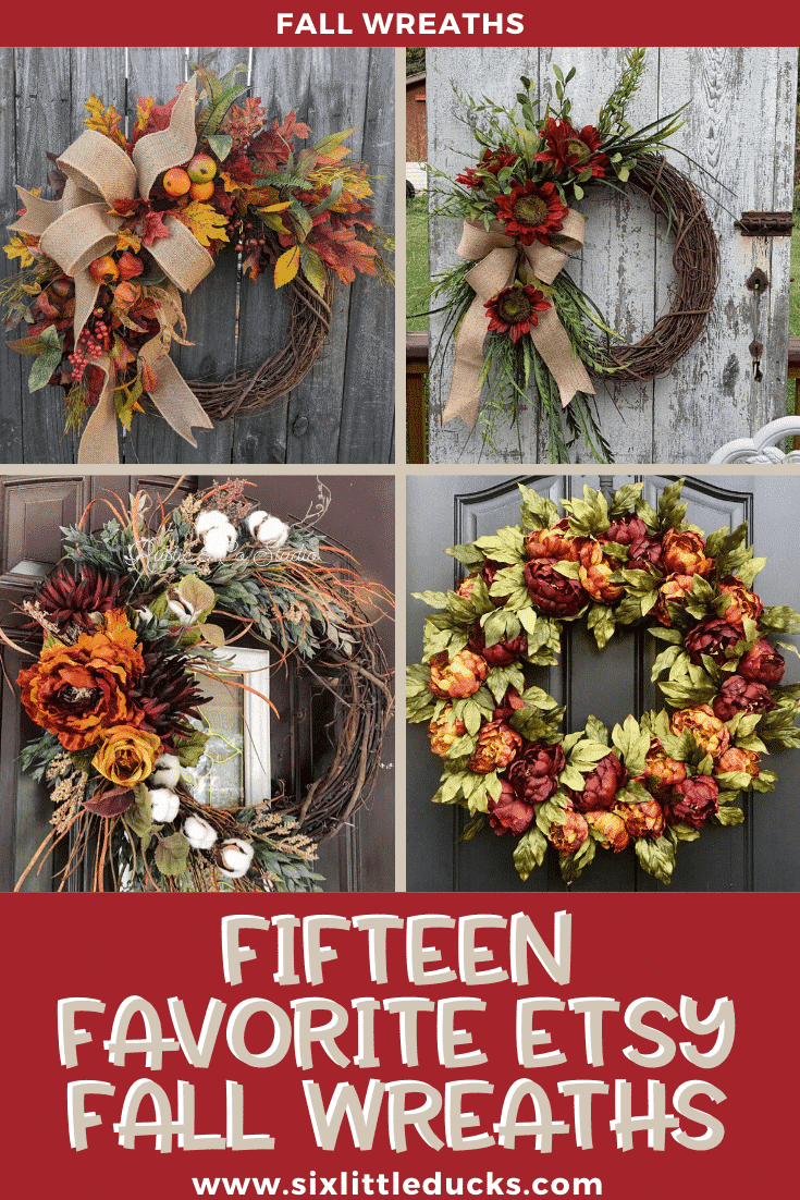 Fifteen Favorite Etsy Fall Wreaths