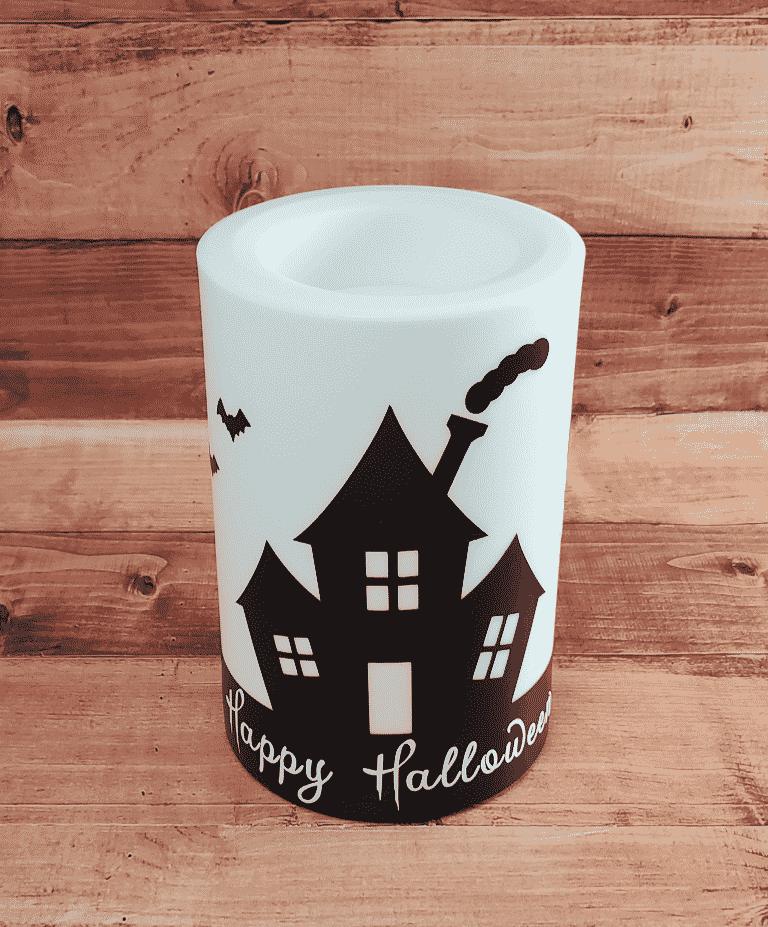 Happy Halloween Candle