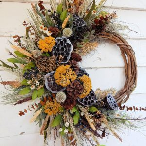 Lotus Pods, Summer-Fall Wreath