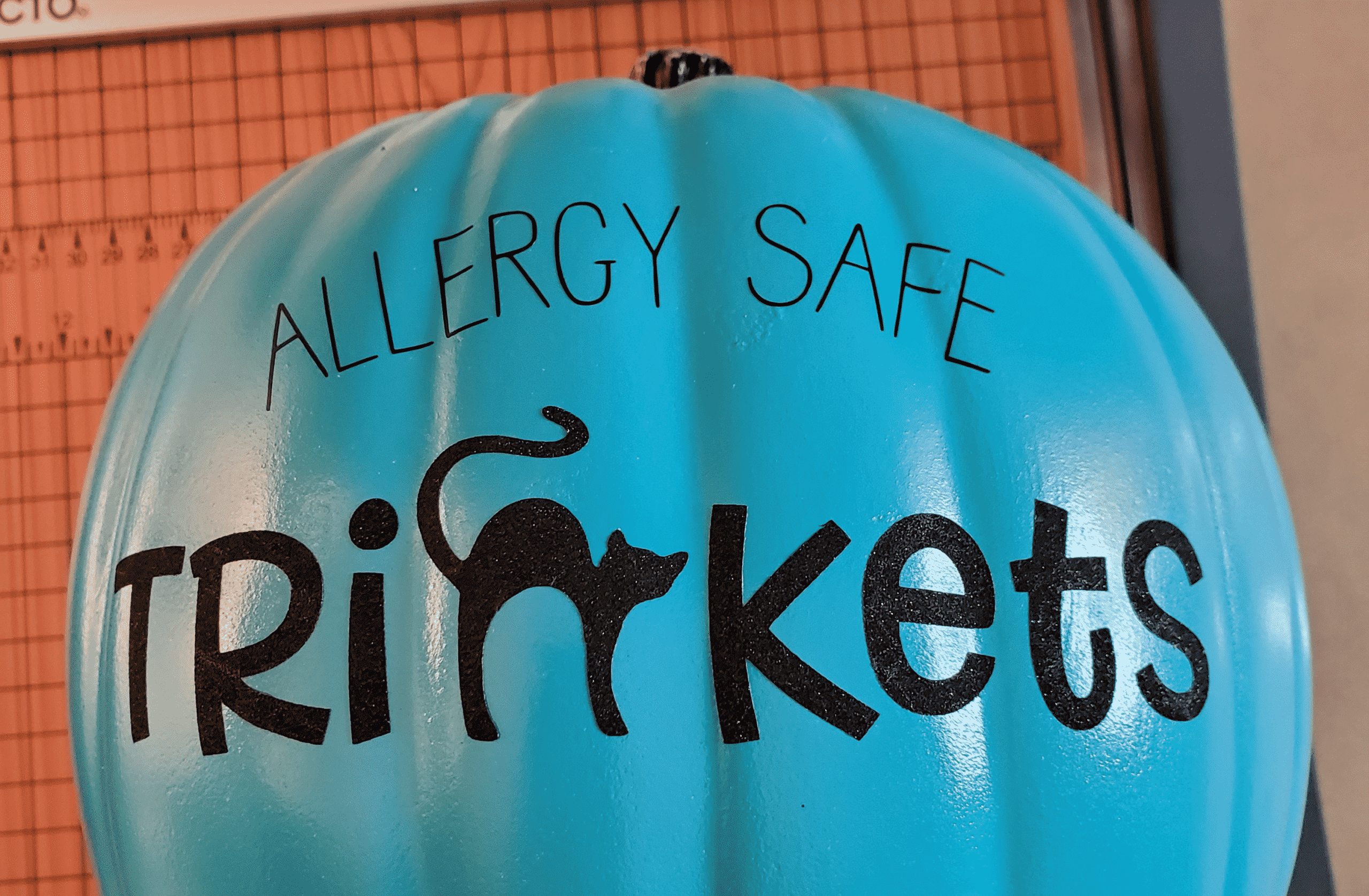 Allergy Safe and Trinkets on pumpkin