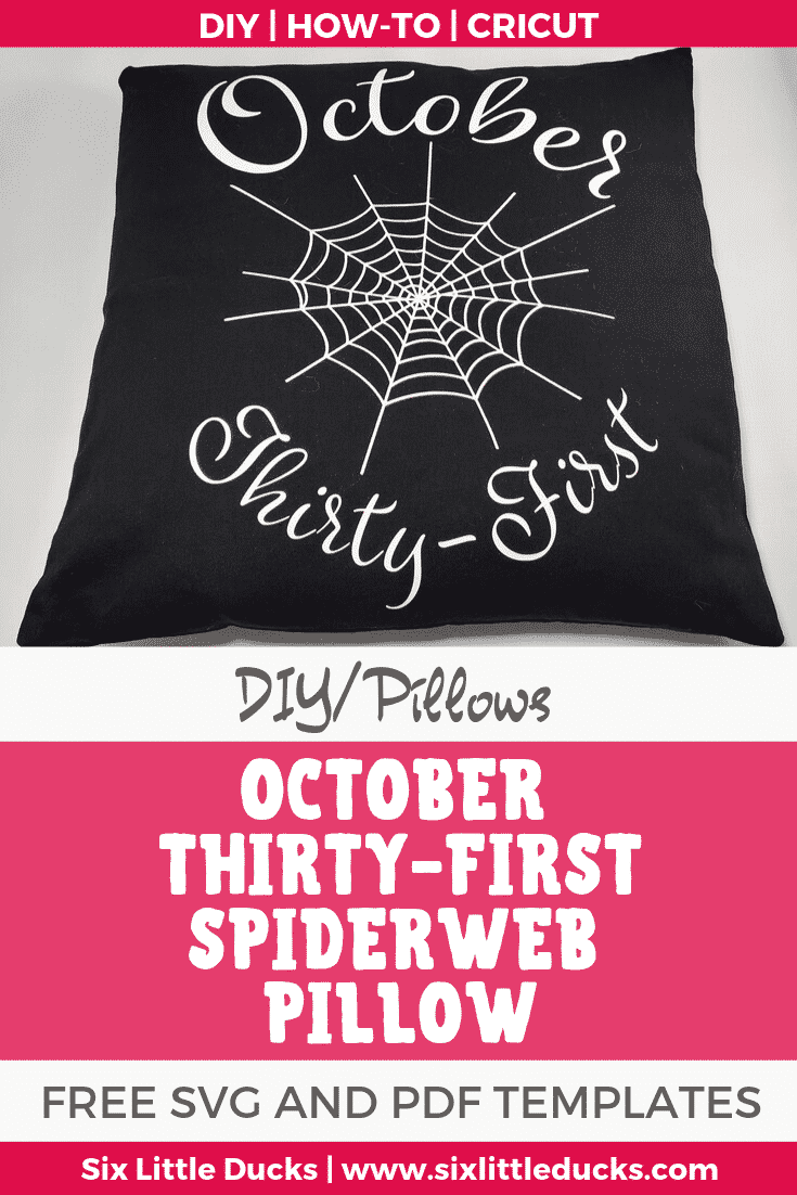 October Thirty-First Spiderweb Pillow