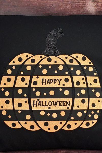 Polka Dot Pumpkin Pillow