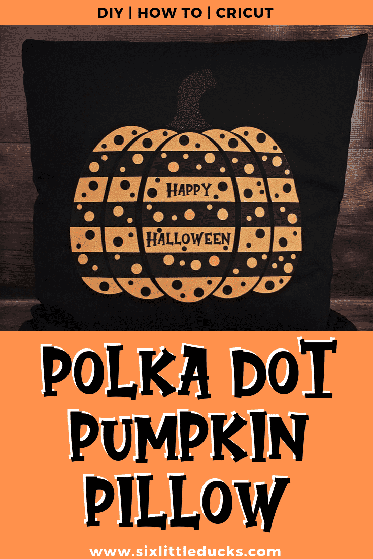 Polka Dot Pumpkin Pillow