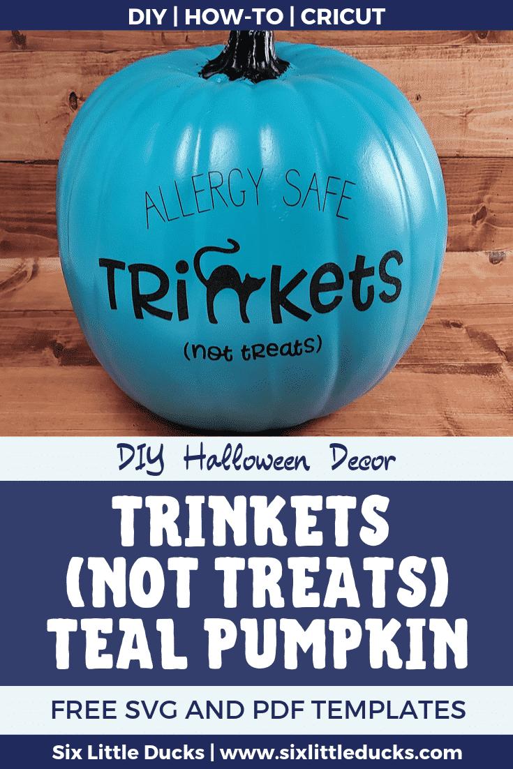 Trinkets (Not Treats) Teal Pumpkin