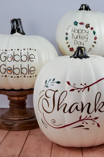 Thanksgiving Designer Pumpkin Trio
