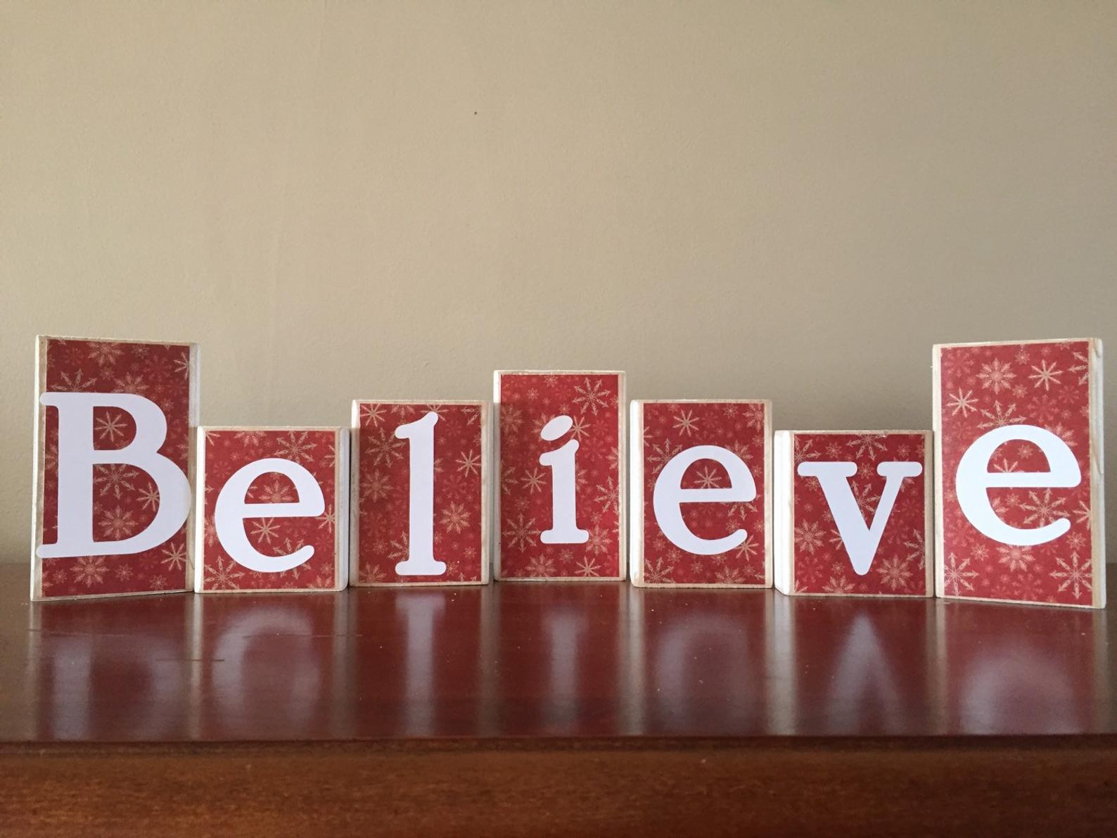 Believe Wooden Letters