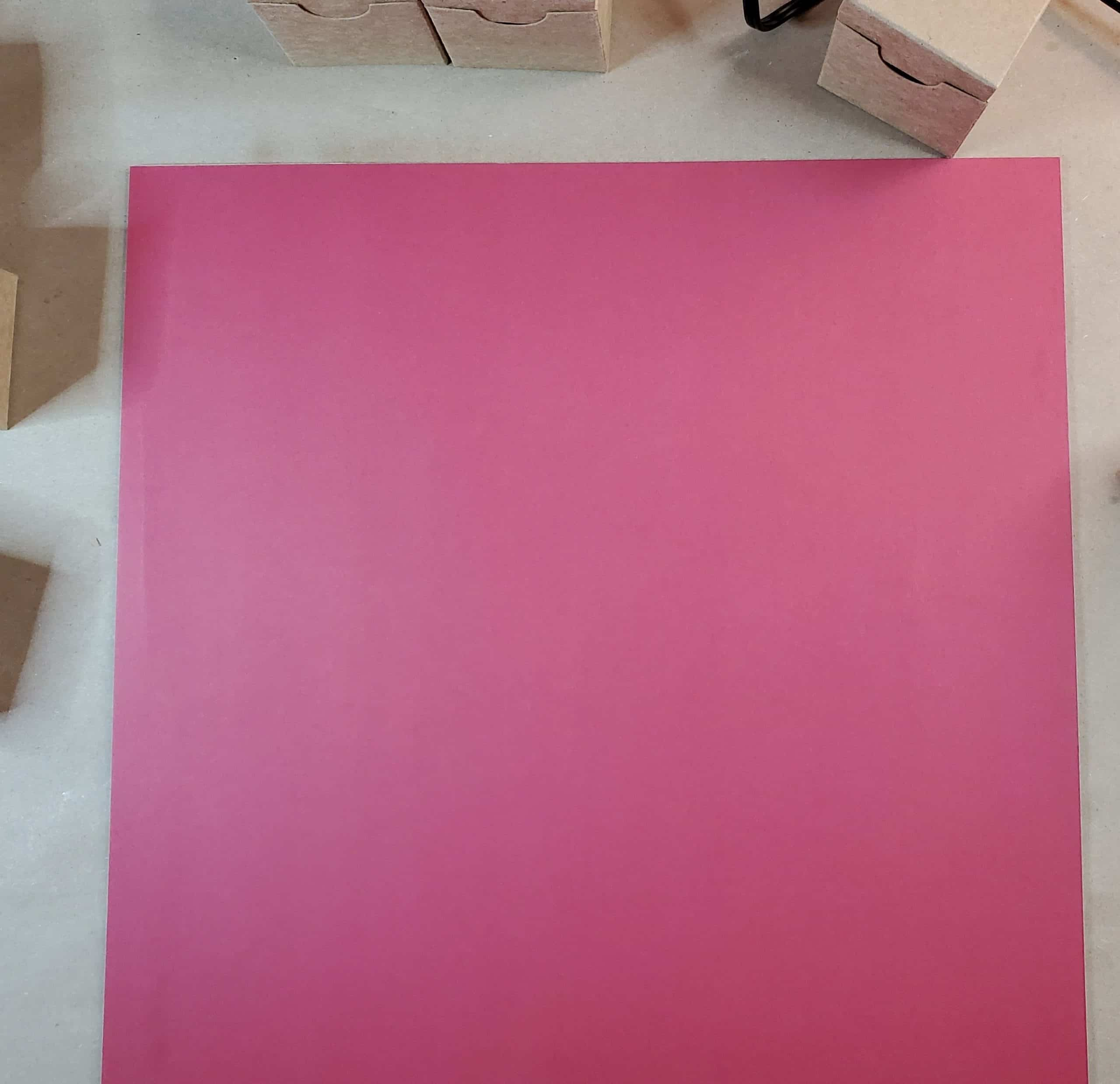 Apply cardstock to glue on chipboard