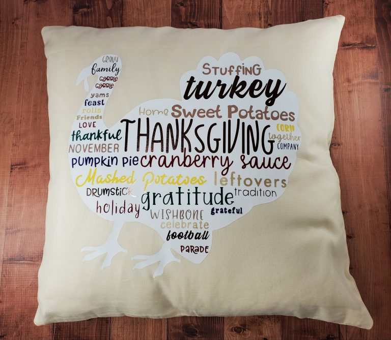 Thanksgiving Word Cloud Pillow + 15 Beautiful Etsy Pillow Finds!!