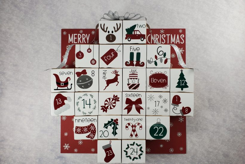 Final calendar on snow
