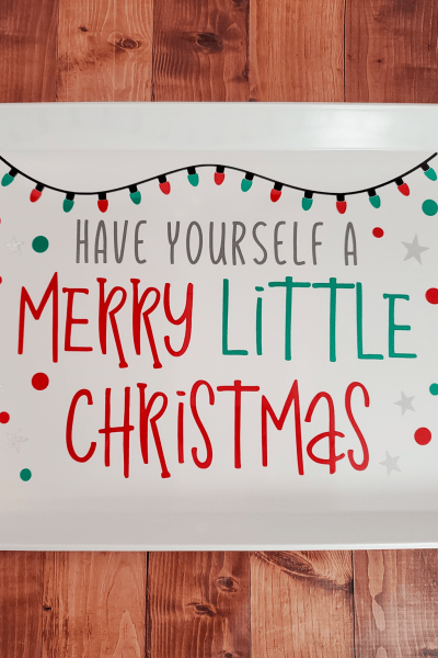 Merry Little Christmas Tray