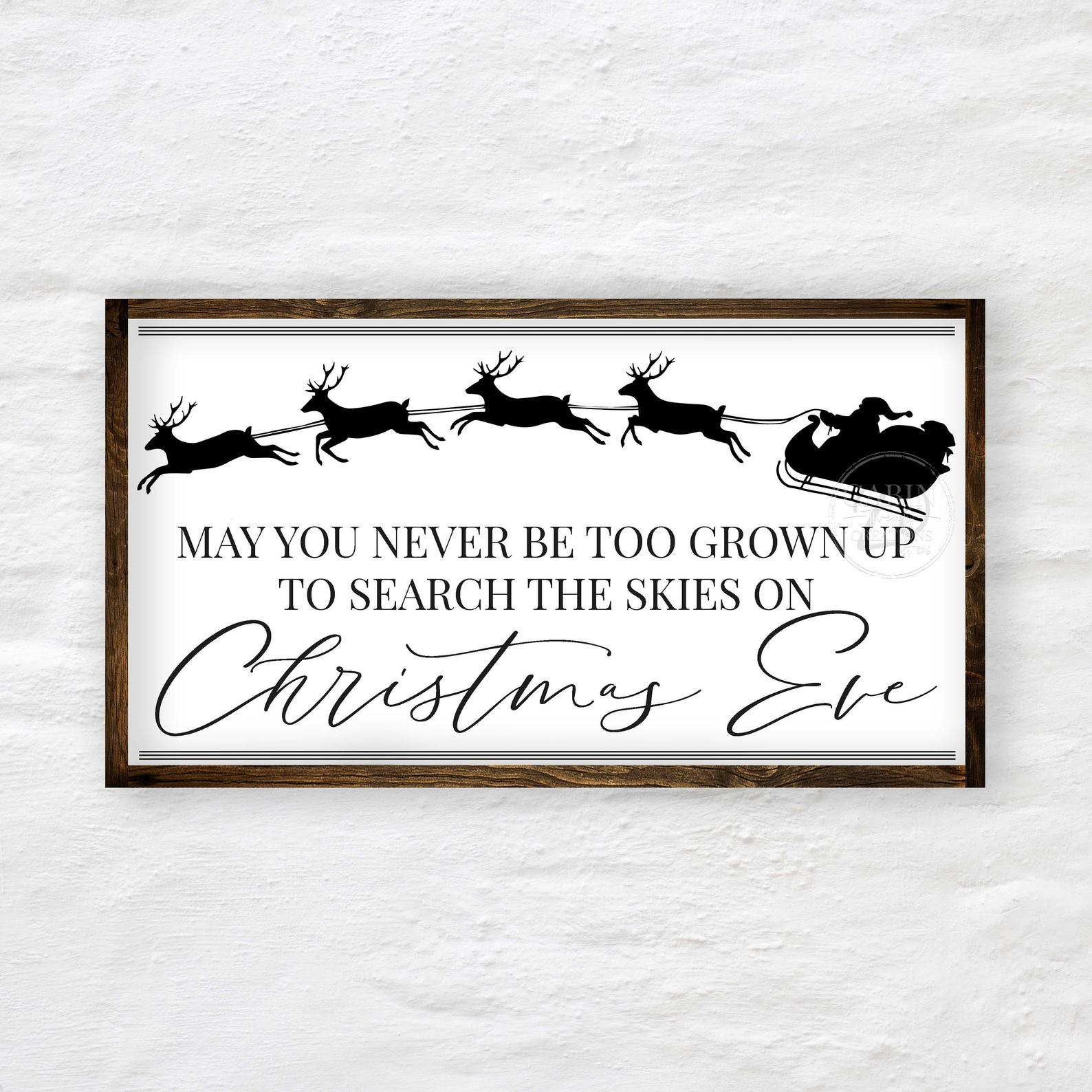 Grown Up Santa Sleigh Sign
