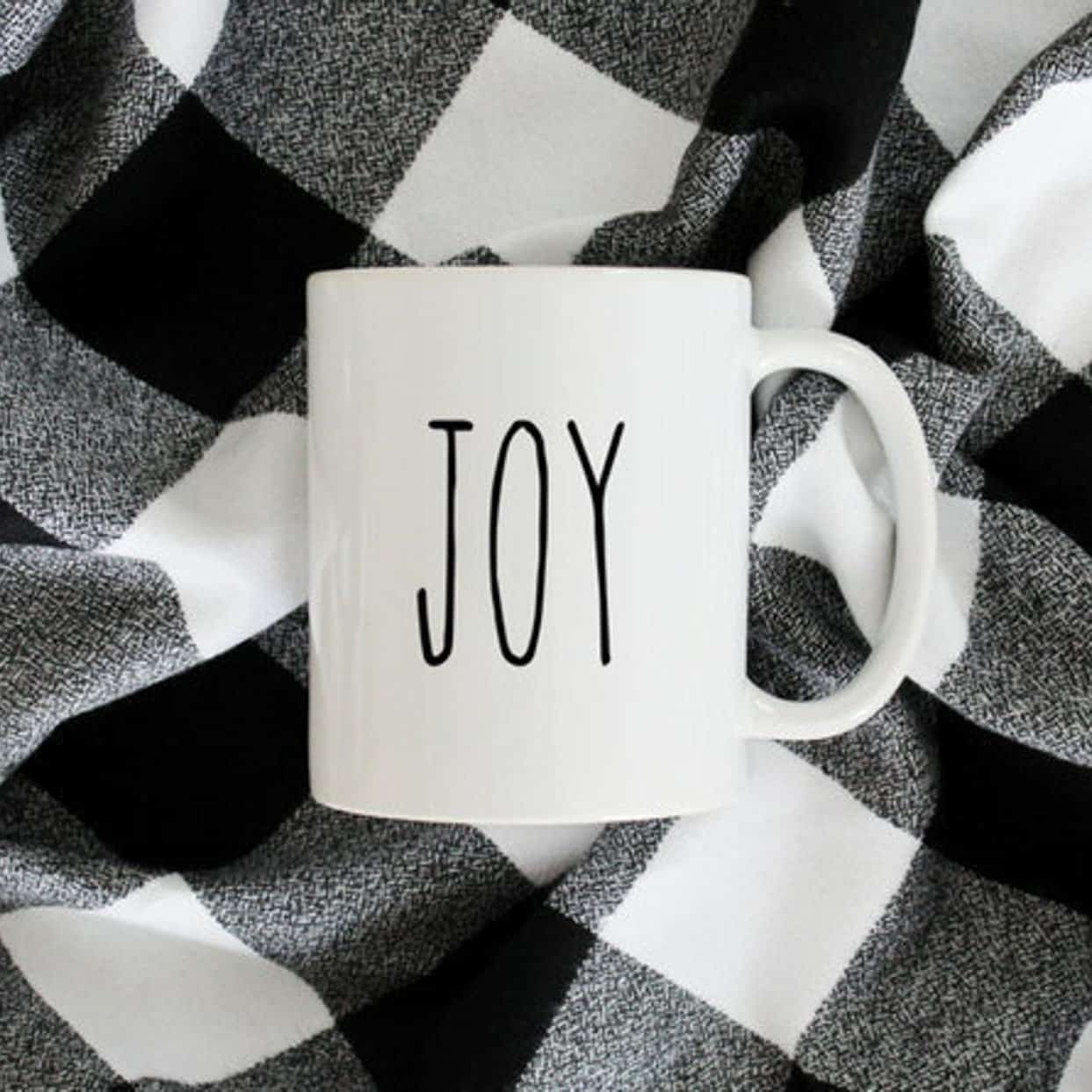 Joy B&W Mug