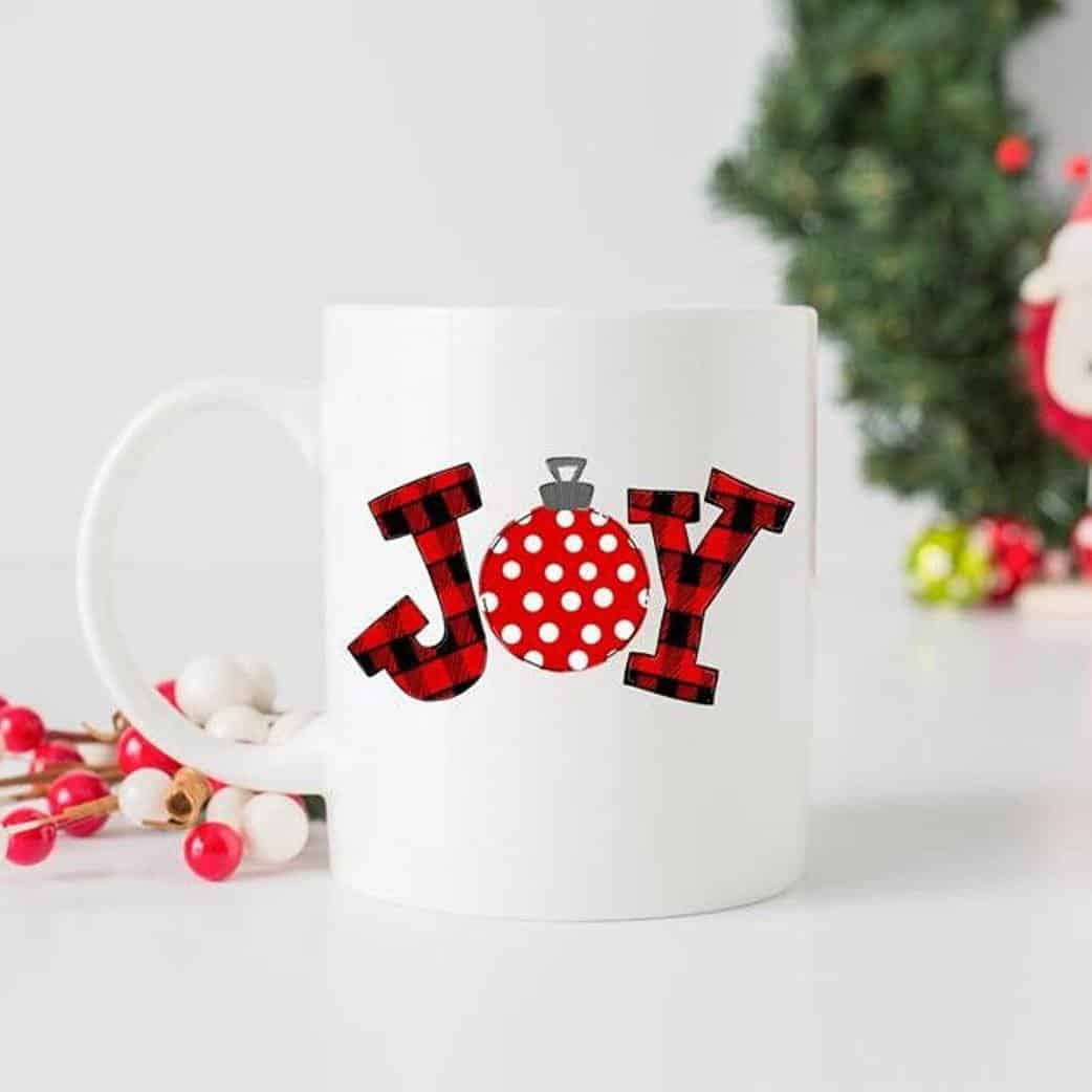 Joy Red Ornament Mug