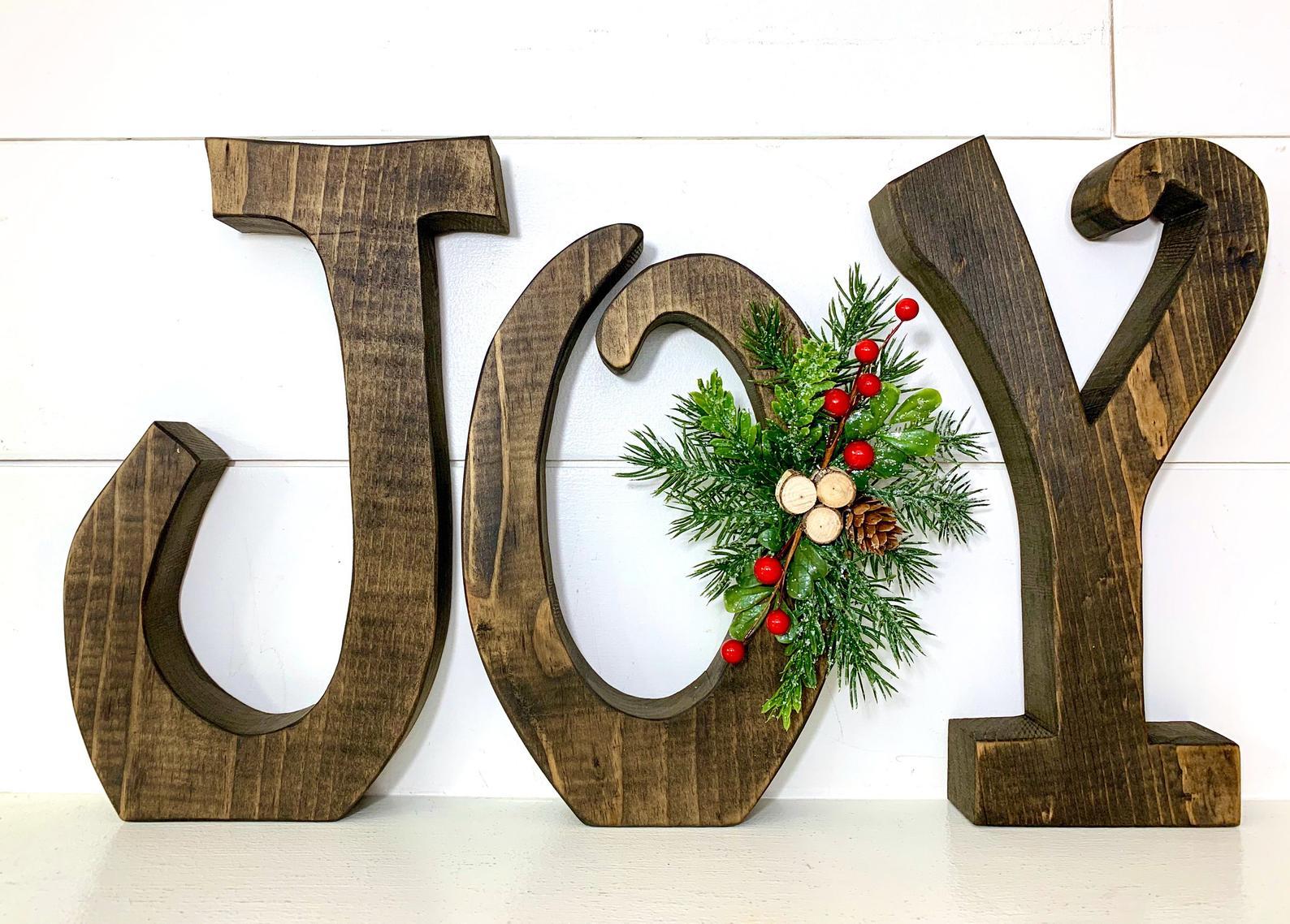 Joy Wooden Letters