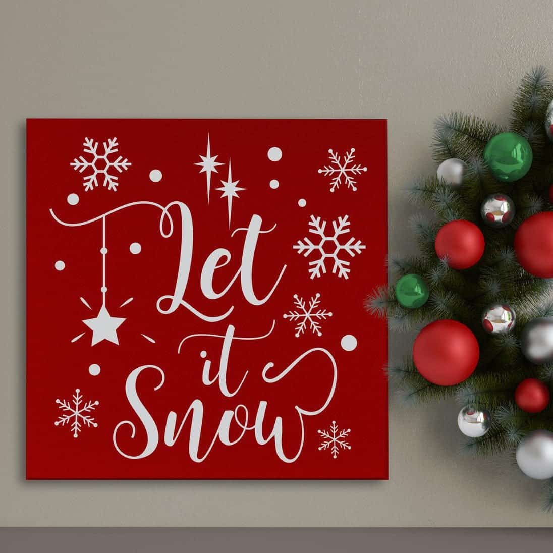 Let It Snow Wall Art