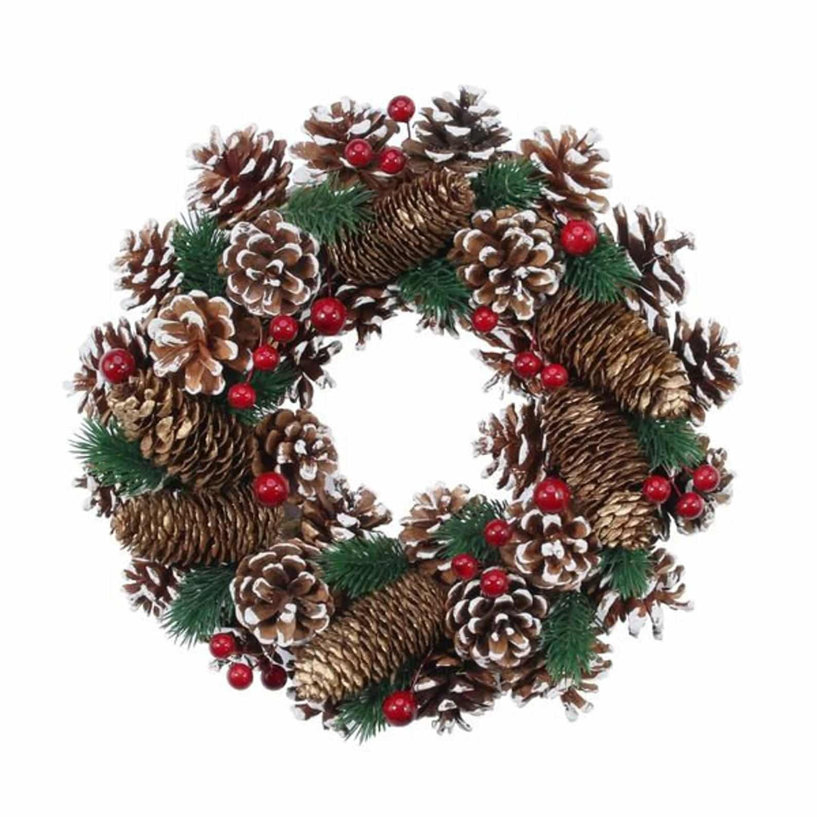 Pinecone Berry Etsy Christmas Wreaths