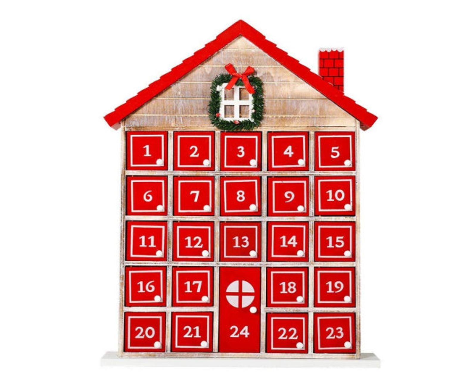 Red Christmas House Advent Calendar