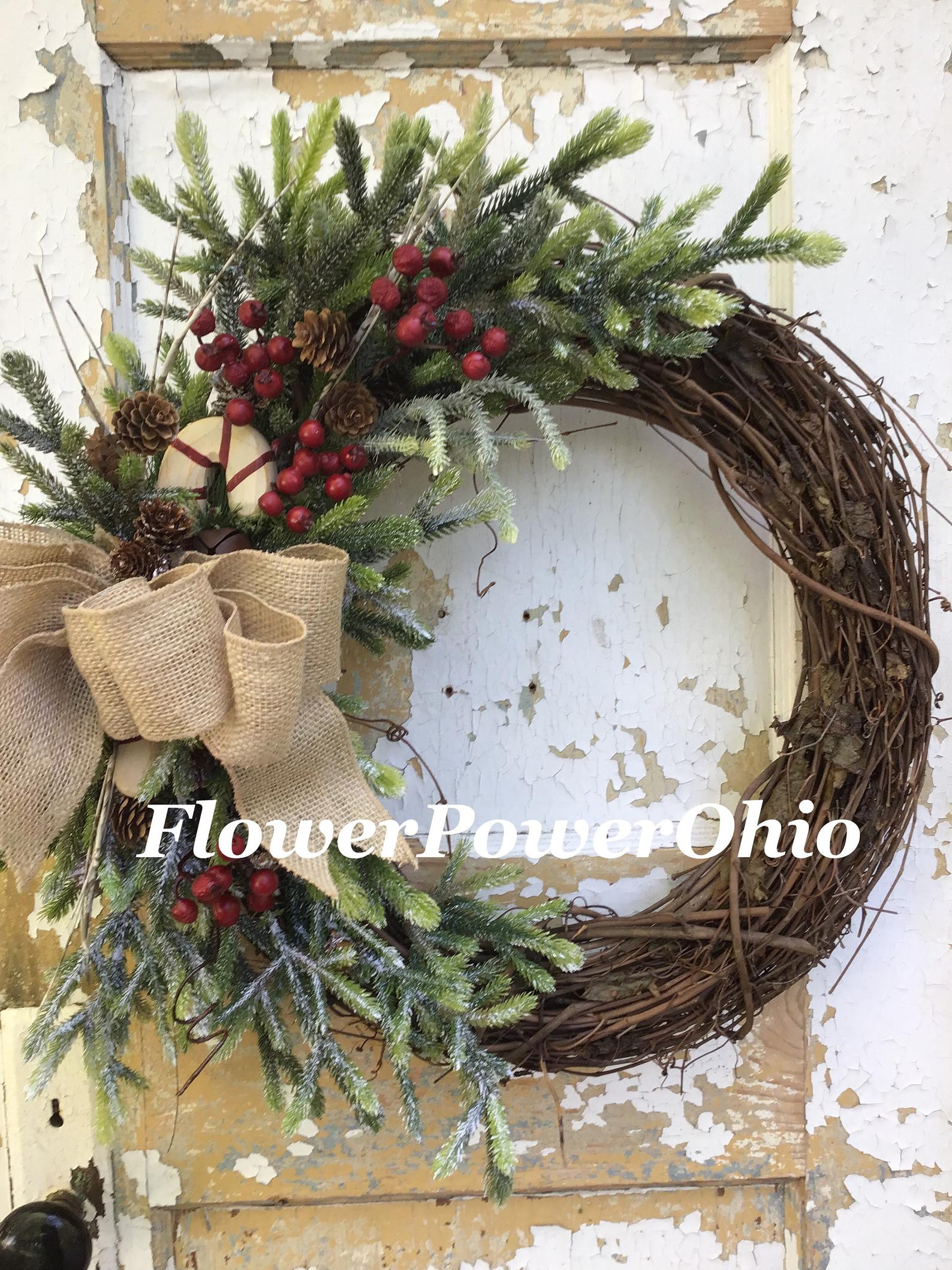 Rustic Berry Etsy Christmas Wreaths