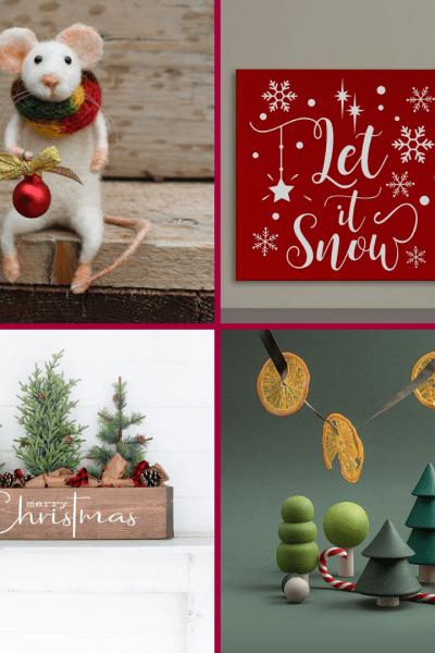 Seventeen Gorgeous Etsy Christmas Decor