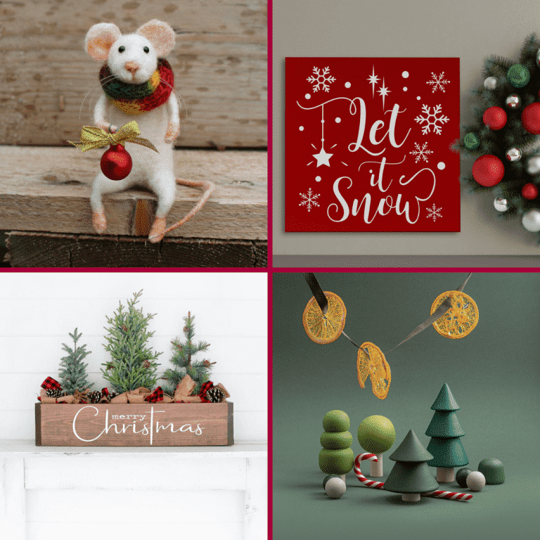 Seventeen Gorgeous Etsy Christmas Decor Finds