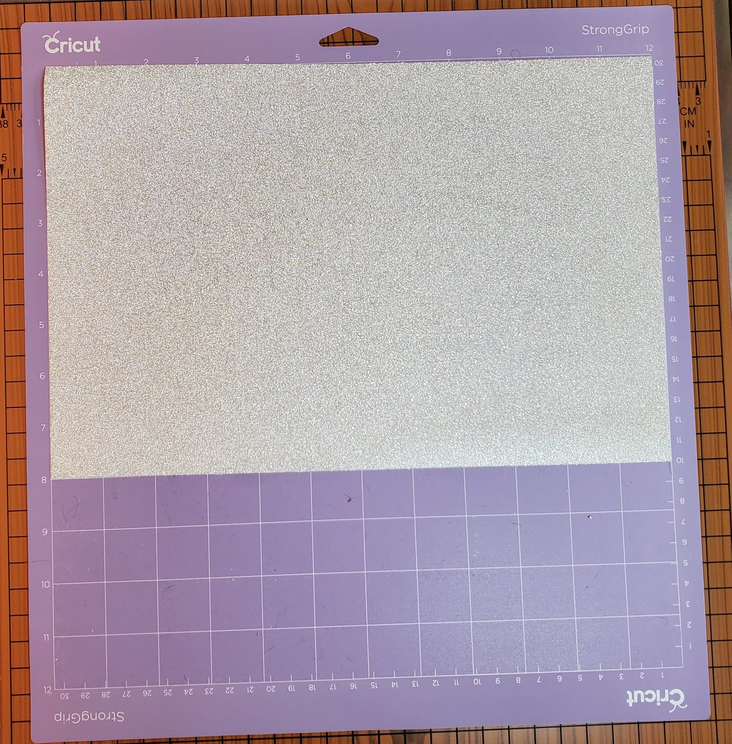 Silver Glitter Vinyl