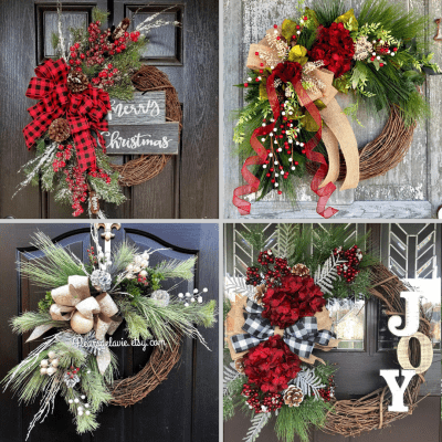 Four of Sixteen Etsy Wreaths