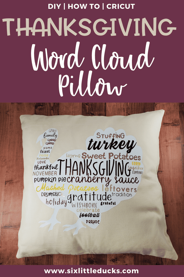 Thanksgiving Word Cloud Pillow