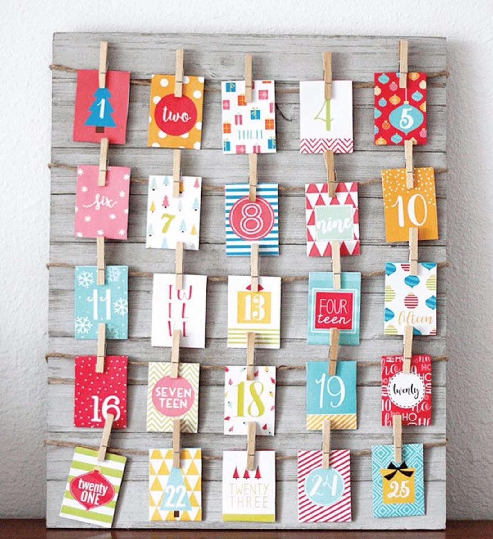 Printable Advent Calendar Decorative Envelopes