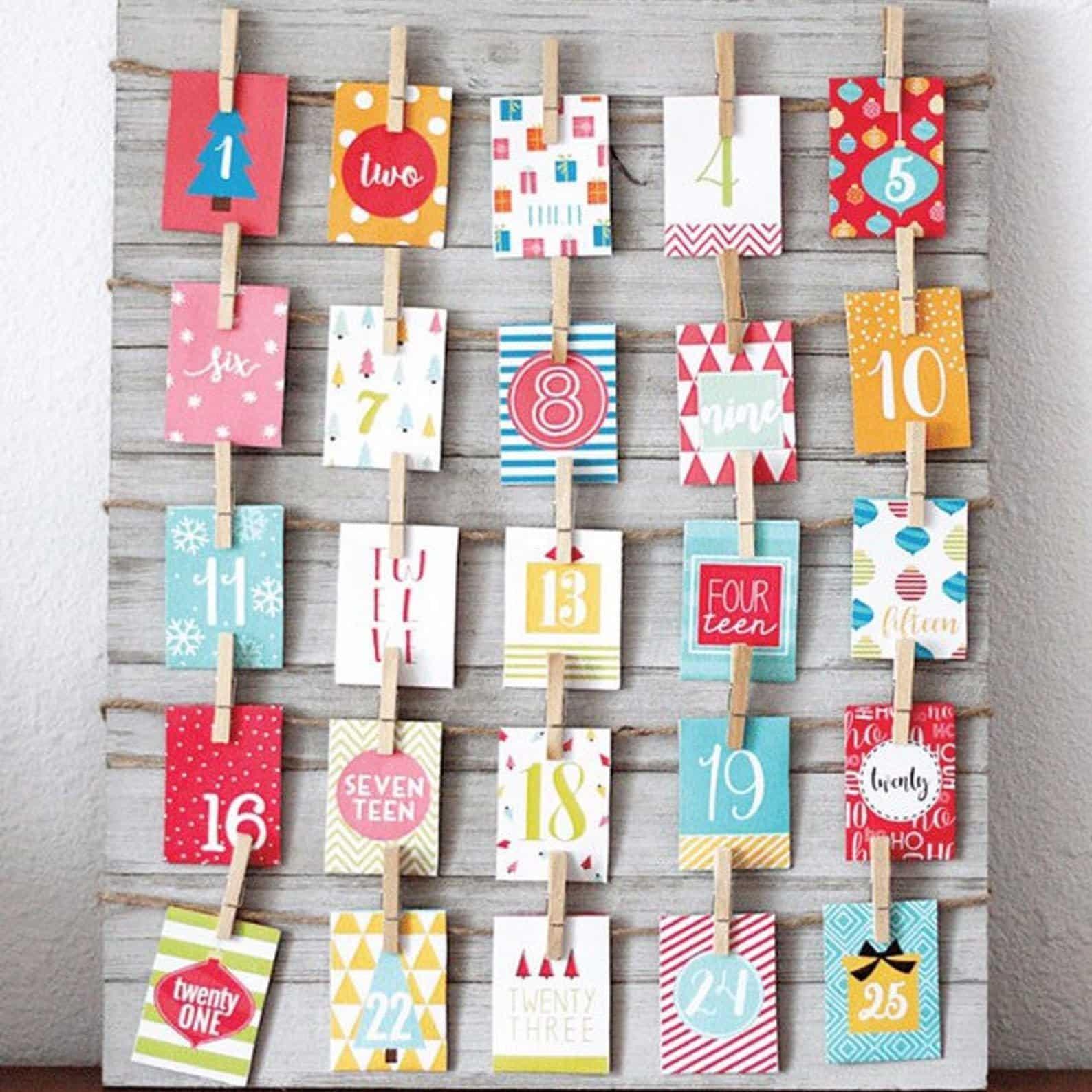 Printable Envelope Advent Calendar