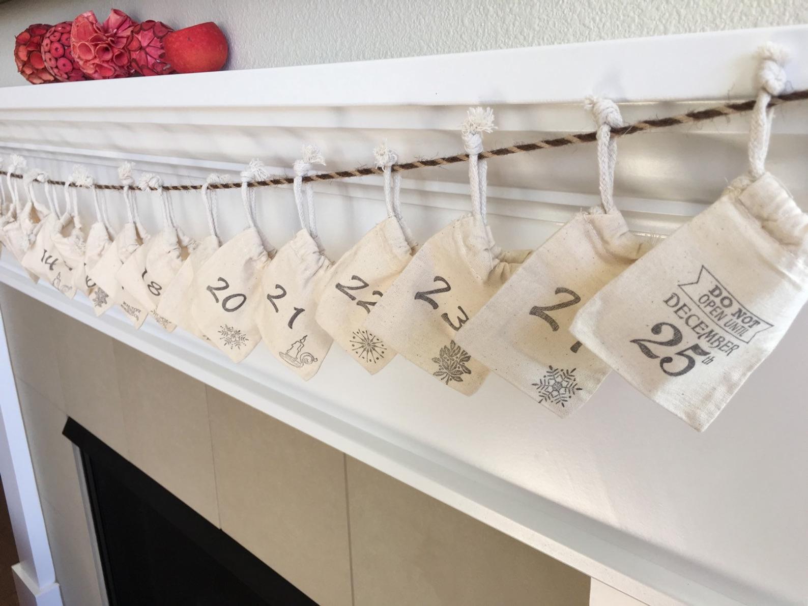 Muslin Advent Calendar Bags