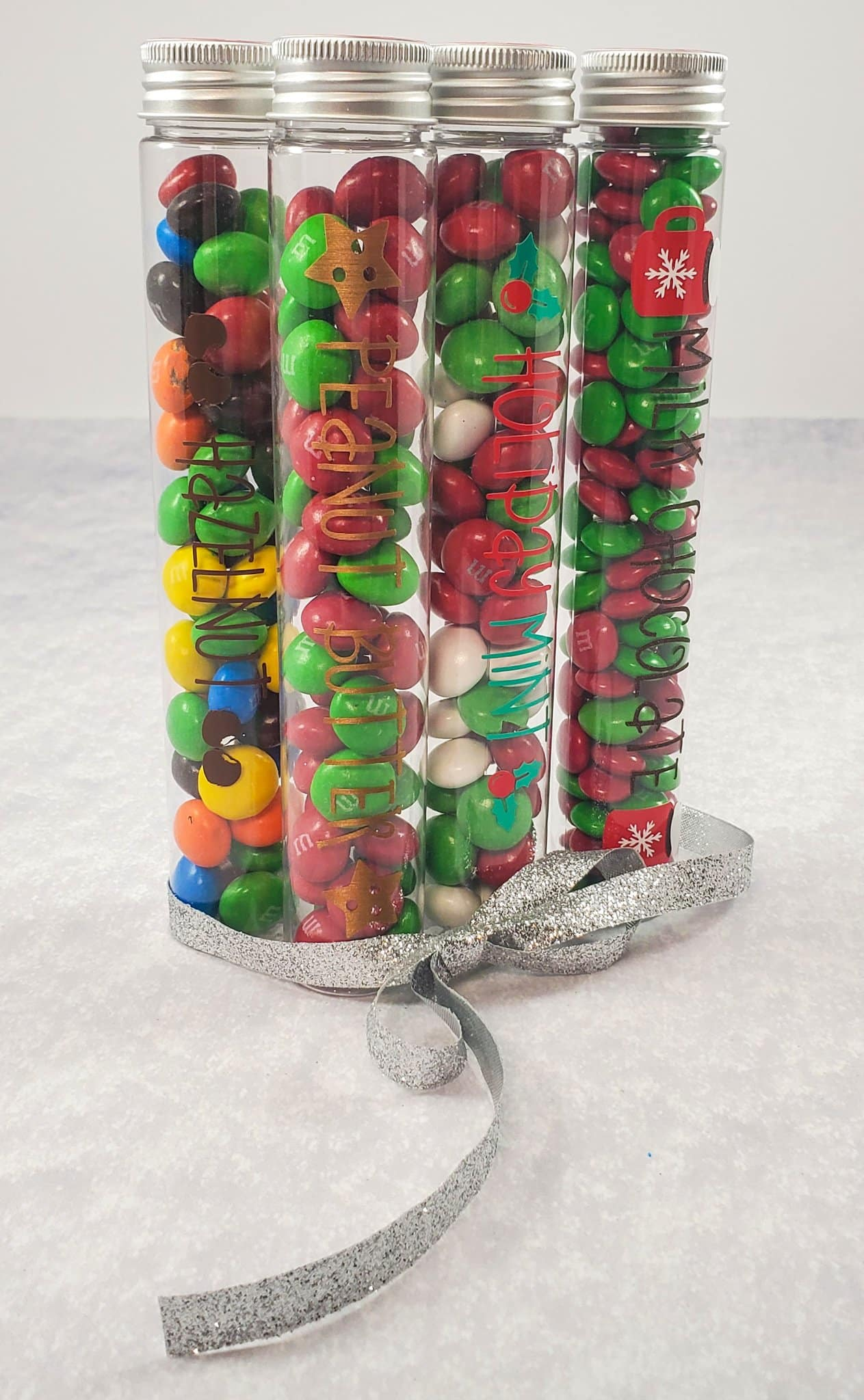 Four completed Candy Containers