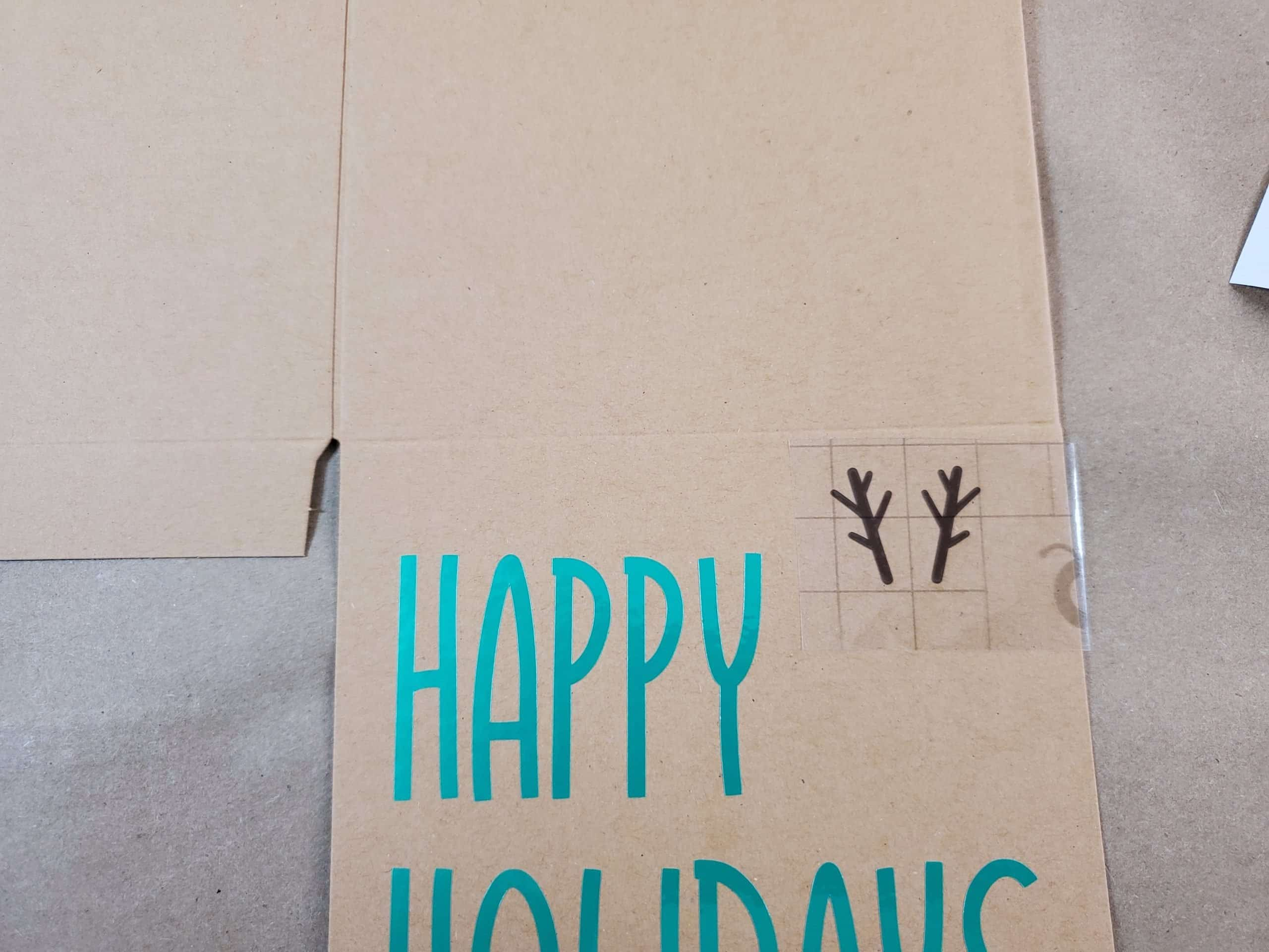 Antlers Attached to the Happy Holidays Reindeer Box