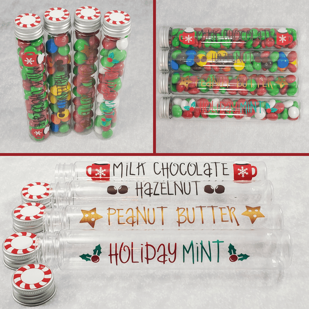Christmas Candy Tube Containers
