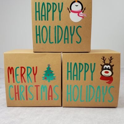 Customized Christmas Cookie Boxes