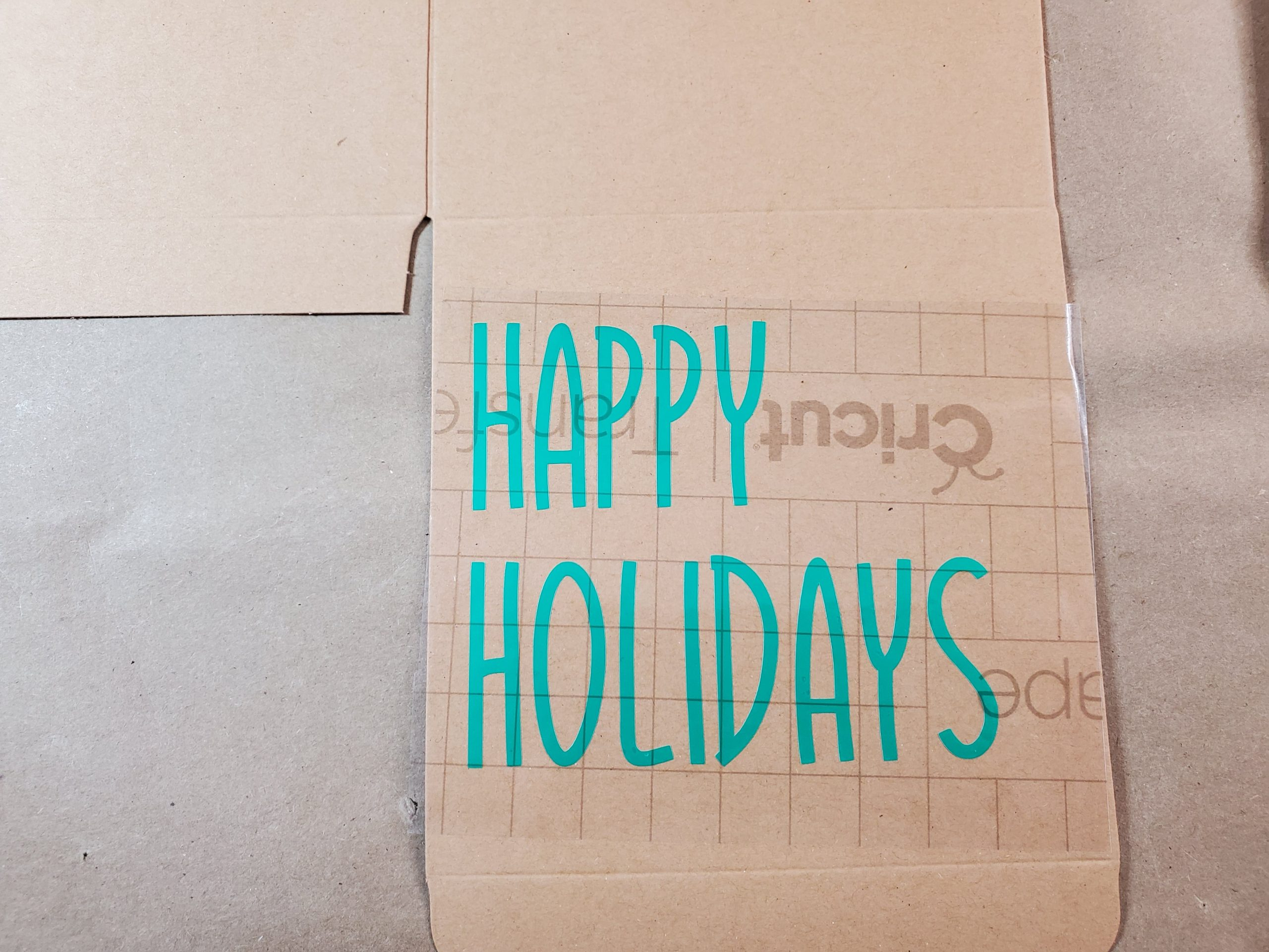 Happy Holidays Lettering on Box