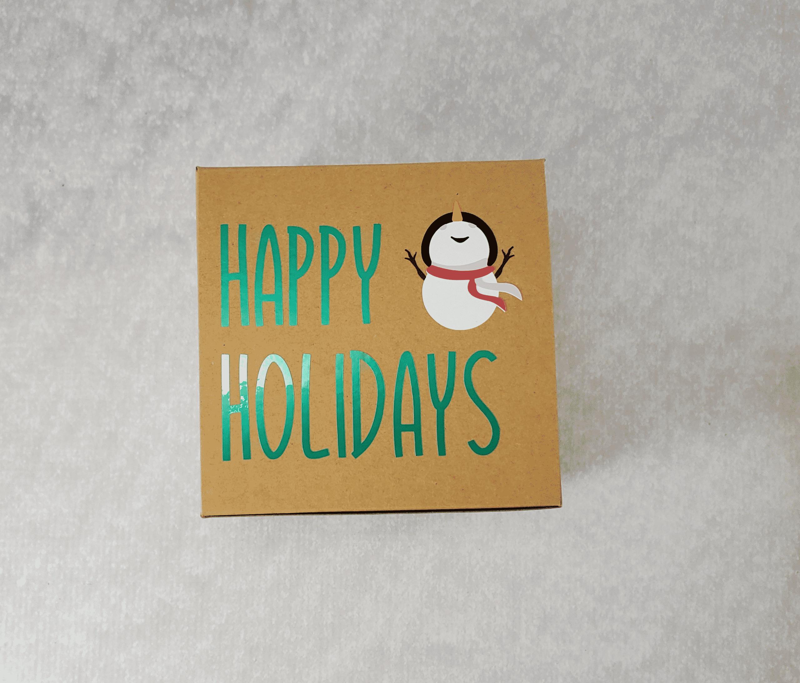 Happy Holidays Snowman Box