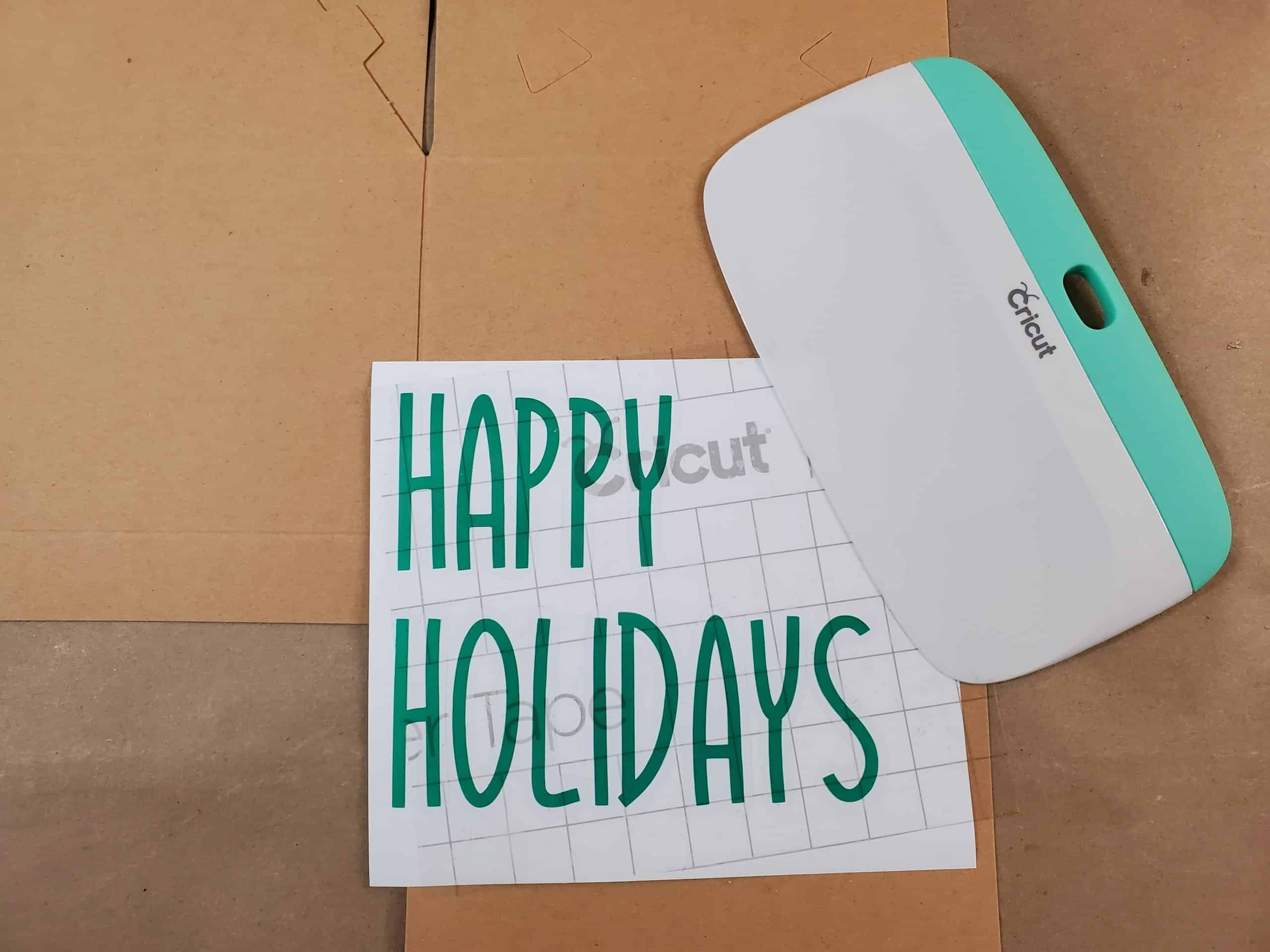 Happy Holidays Lettering Ready to be Transferred