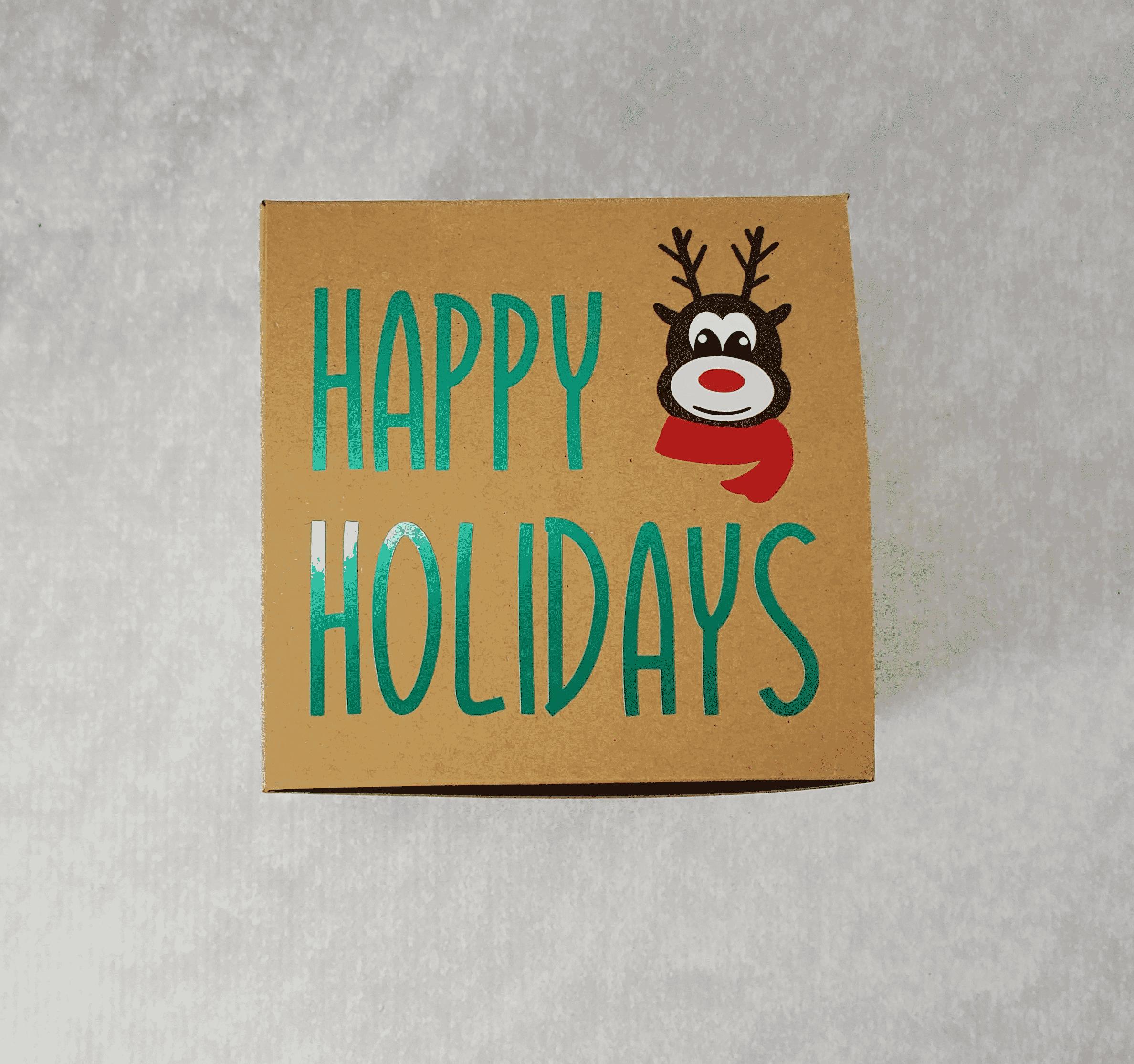 Happy Holidays Reindeer Box