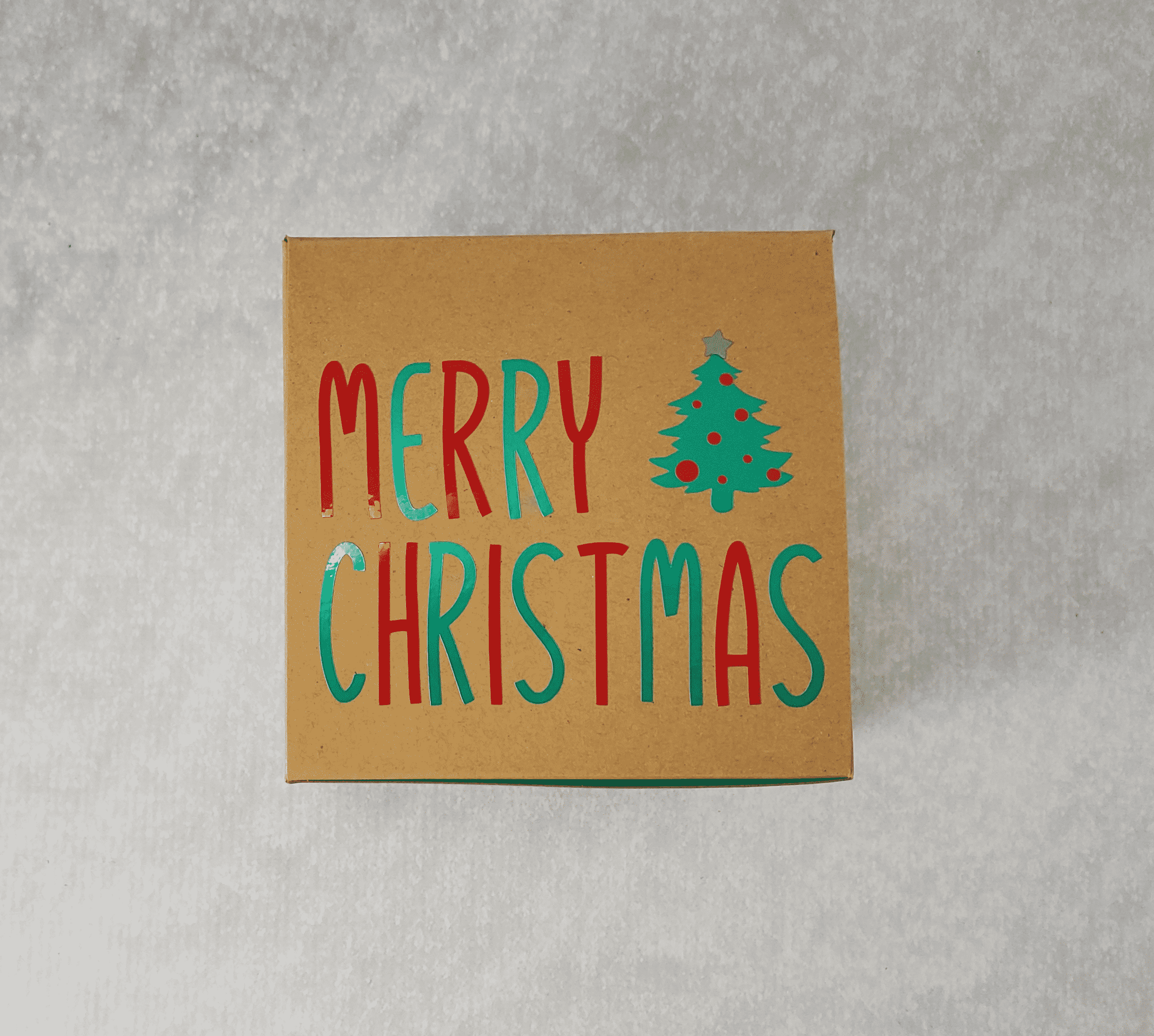 Merry Christmas Tree Box