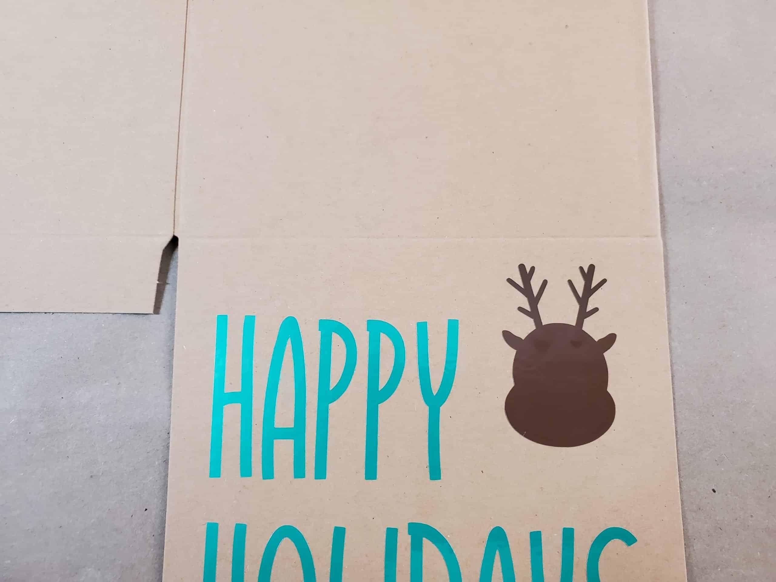 Reindeer Head and Antlers on Box