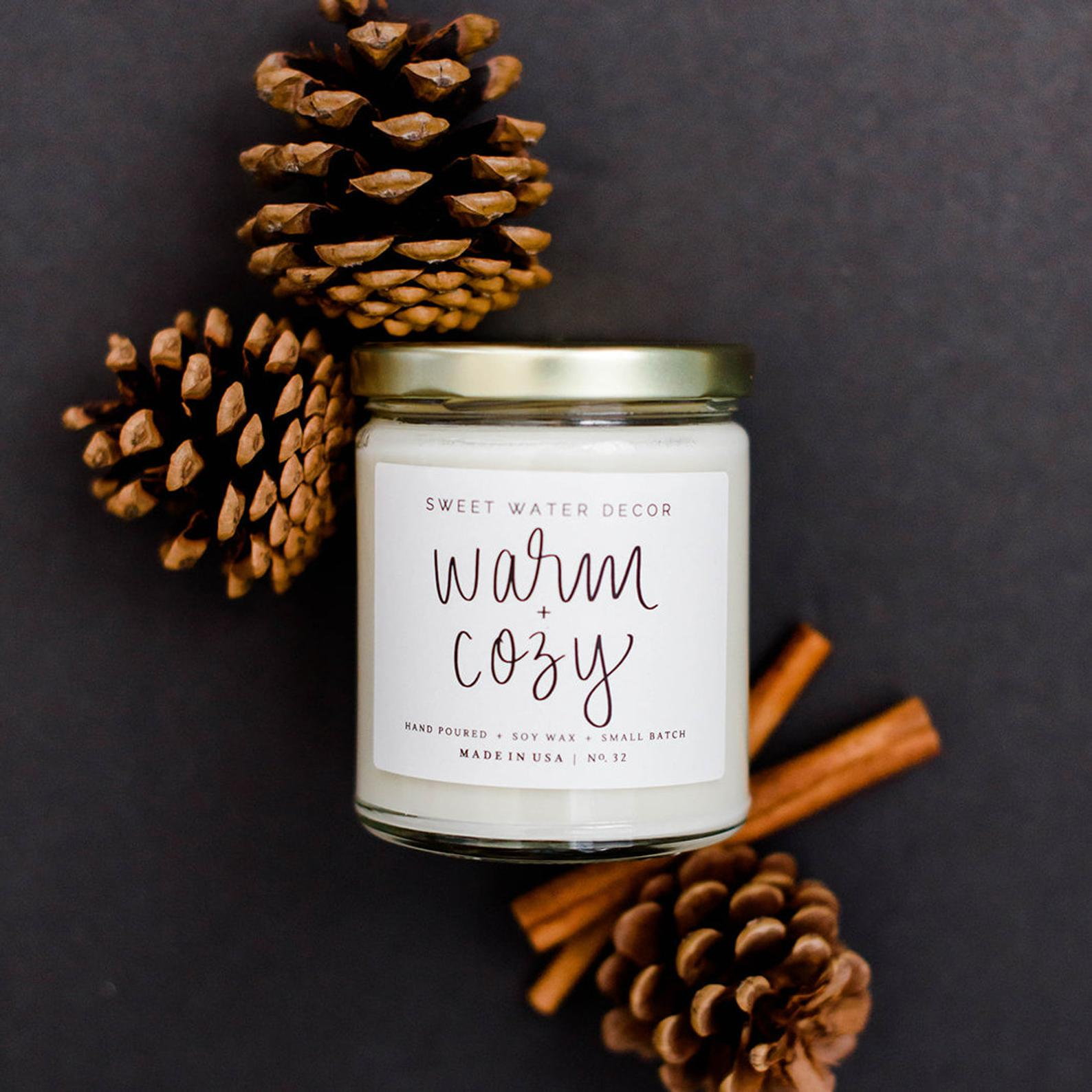 Warm and cozy candle