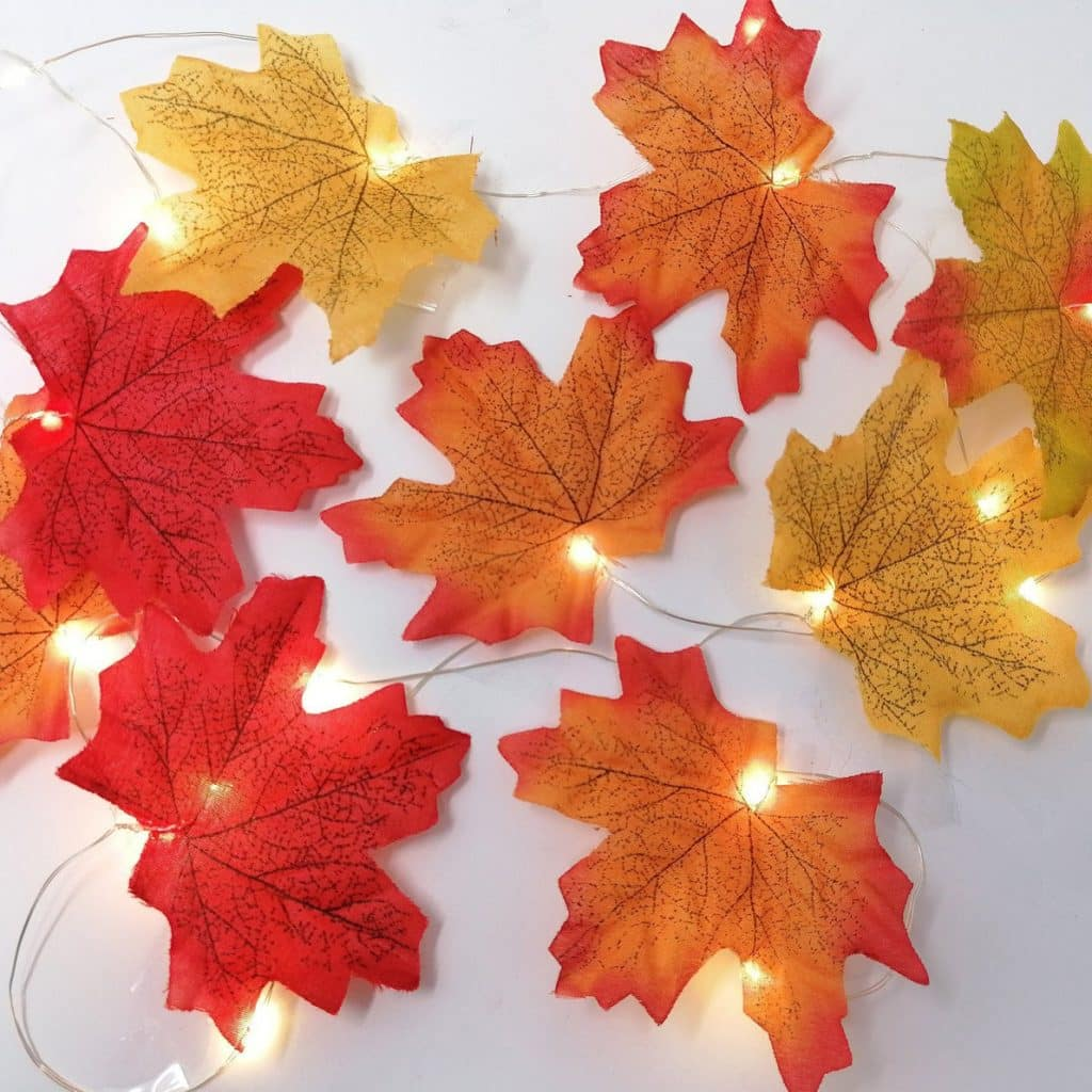 Beautiful Fall Decor Finds - Fall Leaves Light Strings